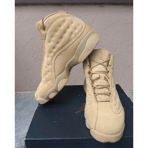 Wheat Jordan's 13 size 5y